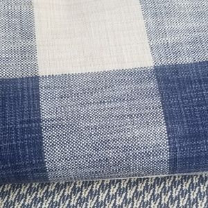 High end upholstery fabric French Blue check